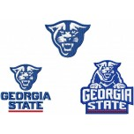 Georgia State Panthers logo machine embroidery design for instant download